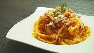 Pasta al ragù 牛薄切り肉でつくるラグーパスタ