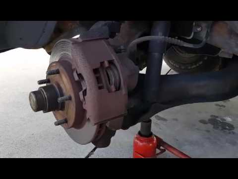 Replace Front Brake Pads On 1996 Dodge Ram 1500 Less Than 10 Minutes Each Side