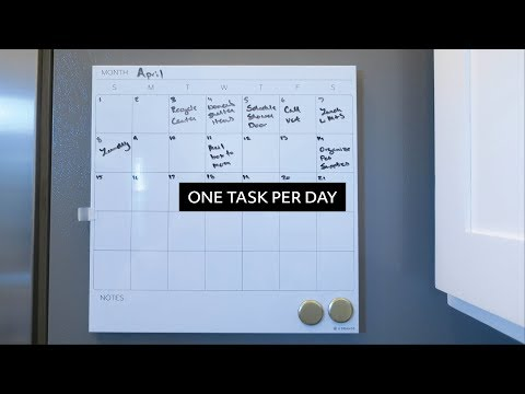 Accomplishing One Task Per Day  |  Productivity Tip