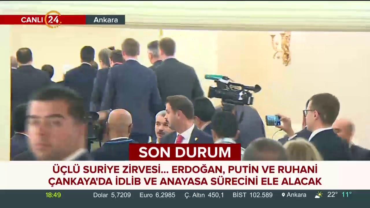 Başkan Erdoğan, Putin ve Ruhani aile fotoğrafı çektirdi
