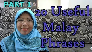 [LEARN MALAY] 98-20 Useful Malay Phrases 1