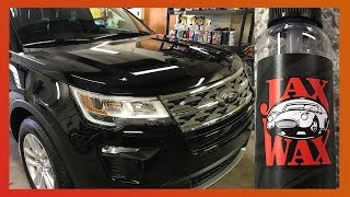 HOW TO CLEAN YOUR CAR WITHOUT WASHING IT + JAX WAX BODY SHINE REVIEW 2018 FORD EXPLORER