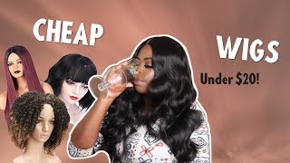 Testing Out Cheap Wigs From Amazon Under $20 | Kinda Tipsy? | Tiyonna B