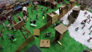 Война Солдатиков Битва Ковбоев Индейцев Продолжение Сражения Серия 204