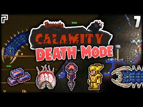 Spelunking, Amazon & Scummy Scourge! | Terraria Calamity Mod Death Mode Let's Play [Episode 7]
