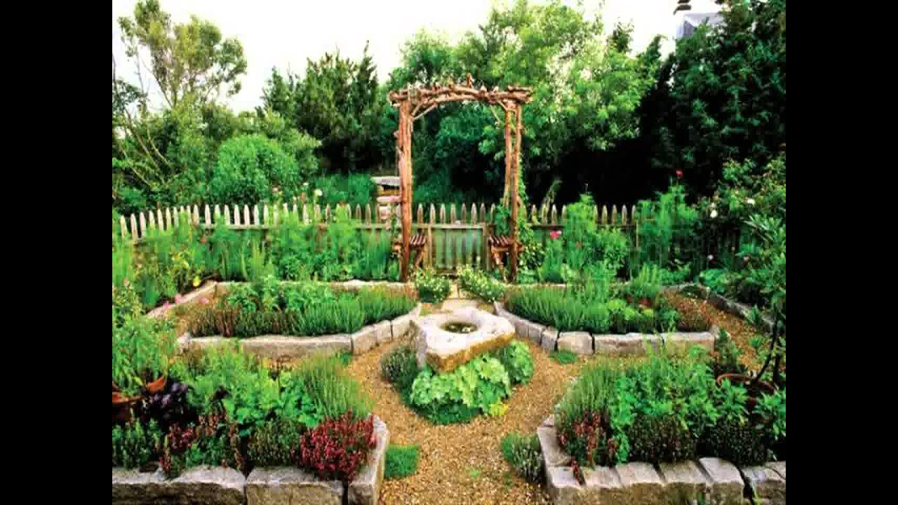 & Small Space backyard vegetable garden - YouTube