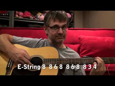 Eye of the Tiger for Beginner Guitar Players - 1 Finger