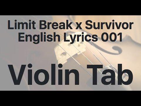 Learn Limit Break x Survivor English Lyrics 001 on Violin - How to Play Tutorial