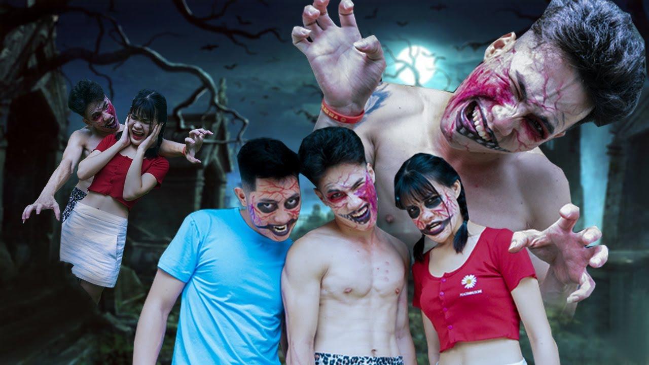 Những Trò Đùa Zombie Vui Nhộn | Hướng Dẫn Trang Điểm Thành Zombie | Zin and Bin