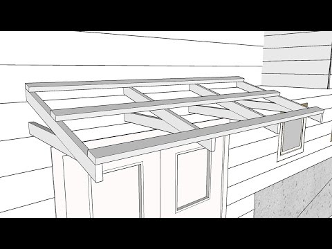Building a Simple Roof Over a Door - Part 1 - Making a Bracket