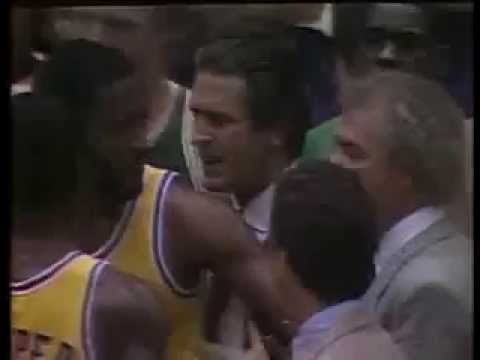 Kevin McHale Clotheslines Kurt Rambis