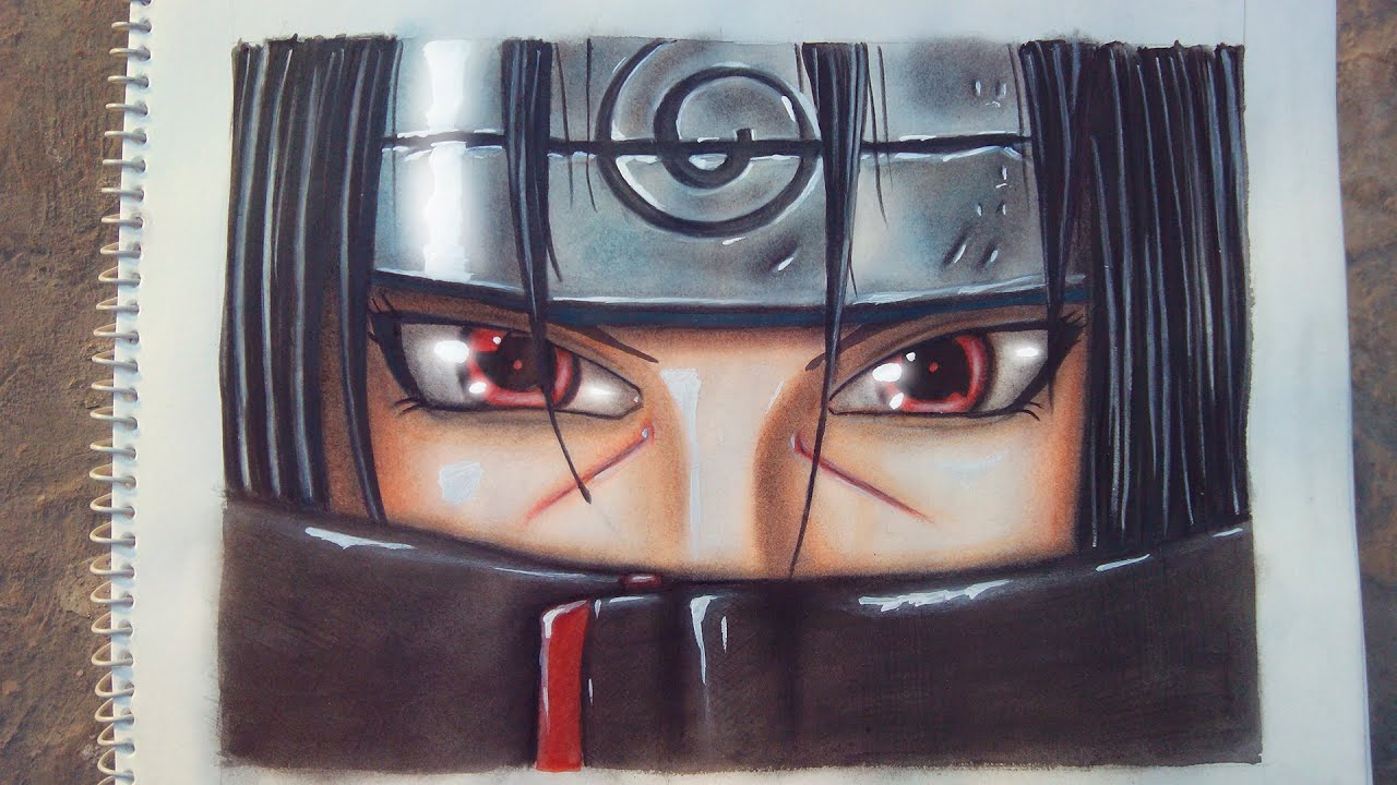 speed drawing itachi uchiha