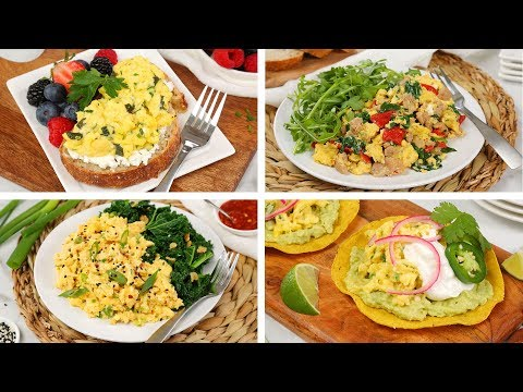 4 Healthy Scrambled Egg Recipes | Easy + Delicious Breakfast Ideas
