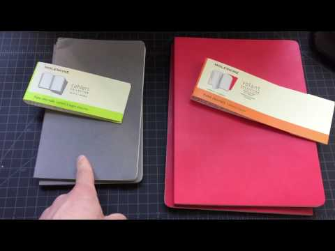 Moleskine Volant vs Cahiers notebook comparison review