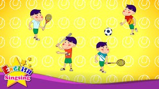 Easy Words 4 (Sports Song) - Learn English vocabulary for kids - English song for Toddlers