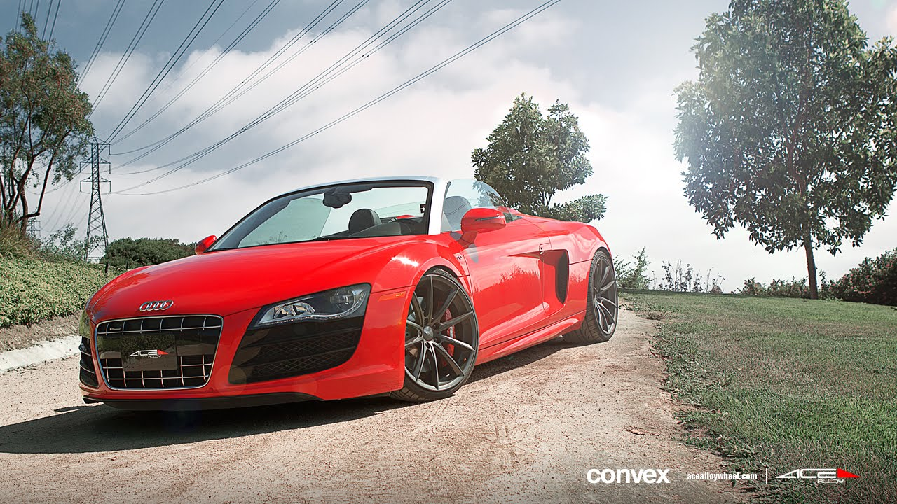 Audi R8 V10 Spyder On 20 Quot Ace Convex Wheels Rims Youtube