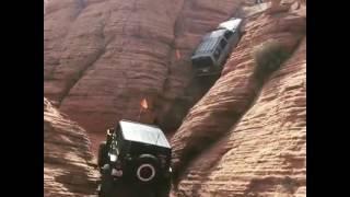 Hummer(4x4) climbing mountain