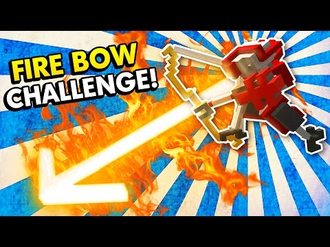 FIRE BOW CHALLENGE IN CLONE DRONE IN THE DANGER ZONE! (Clone Drone in the Danger Zone Gameplay)
