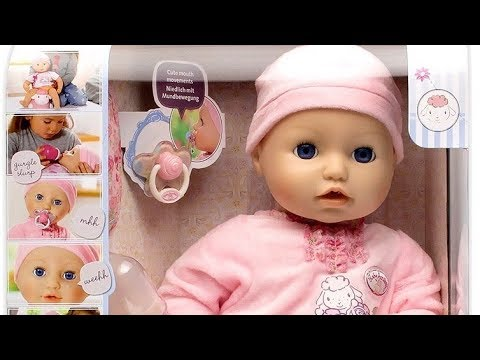 2016 New Baby Annabell Baby Doll Cries Tears Sleep