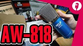 Hát karaoke online Full bộ phòng thu giá rẻ : micro AW-818, XOX K10, Kẹp, màng lọc, tai nghe