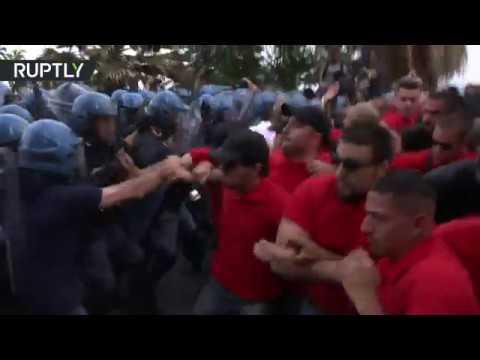 اشتباكات بين الشرطة ومتظاهرين على هامش قمة مجموعة السبع  - 10:21-2017 / 5 / 28