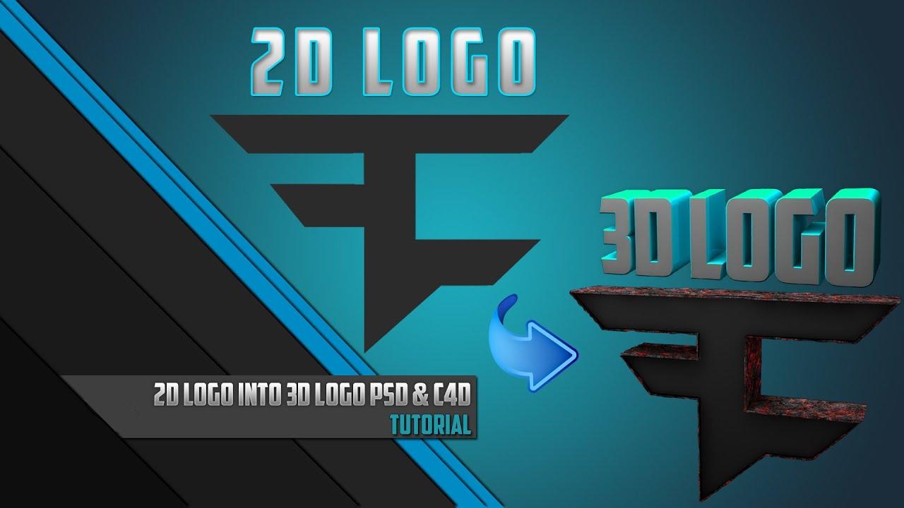 2D logo 3D logo | Tutorial | Photoshop CC & Cinema 4D ...