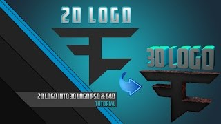 2D logo ➙ 3D logo | Tutorial  | Photoshop CC & Cinema 4D