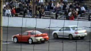 wrx sti vs 3000gt vr4 seekonk speedway sti almost flips