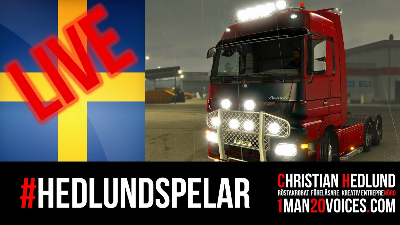 hedlund spelar euro truck simulator 2 kiel v xj mercedes youtube. Black Bedroom Furniture Sets. Home Design Ideas