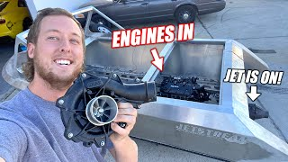 Mini Jet Boat Build Part 4: Fully Installing the Supercharged ROTAX Engines!! (Major Progress)