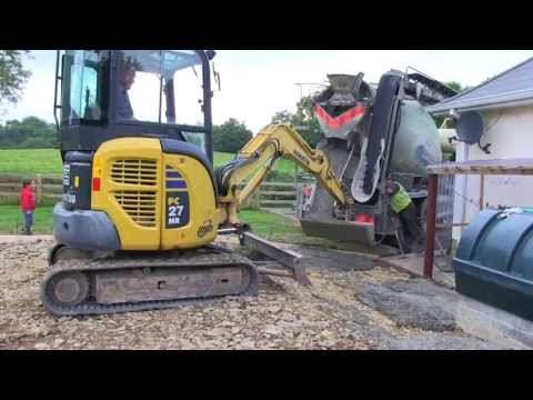 Cement Mixer and Mini Digger
