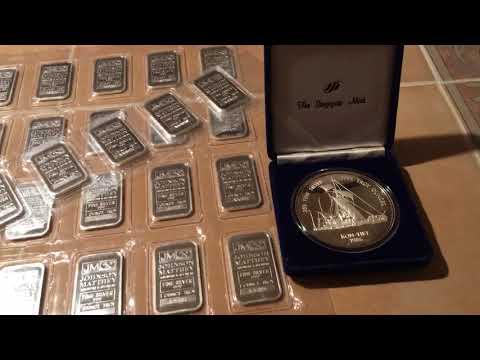 Coin show & local dealer gold & silver bullion pick ups. Engelhard, Johnson Matthey, Bunker Hill