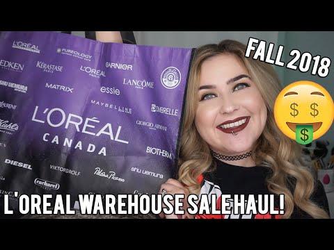 L'OREAL WAREHOUSE SALE HAUL! FALL 2018!