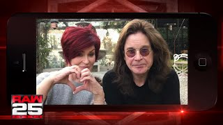 Sharon and Ozzy Osbourne give a shout out to the WWE Universe for Raw 25