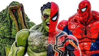 Людина-Павук, Халк Перетвориться В С Spiderhulk~ Перемогти Зеленого Гобліна, Річ~! Супергерої Іграшки - Іграшки Марвел