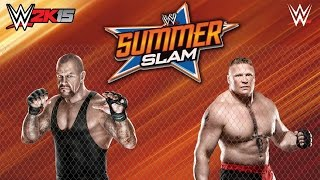 Undertaker - Brock Lesnar - Hell in a Cel - WWE SummerSlam 2015 Gameplay Pc