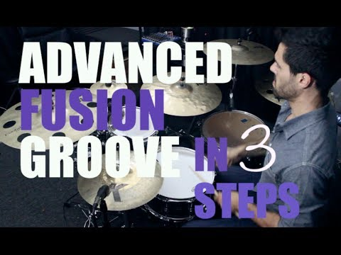 Advanced Fusion Groove in 3 Steps - DRUM LESSON with The Orlando Drummer