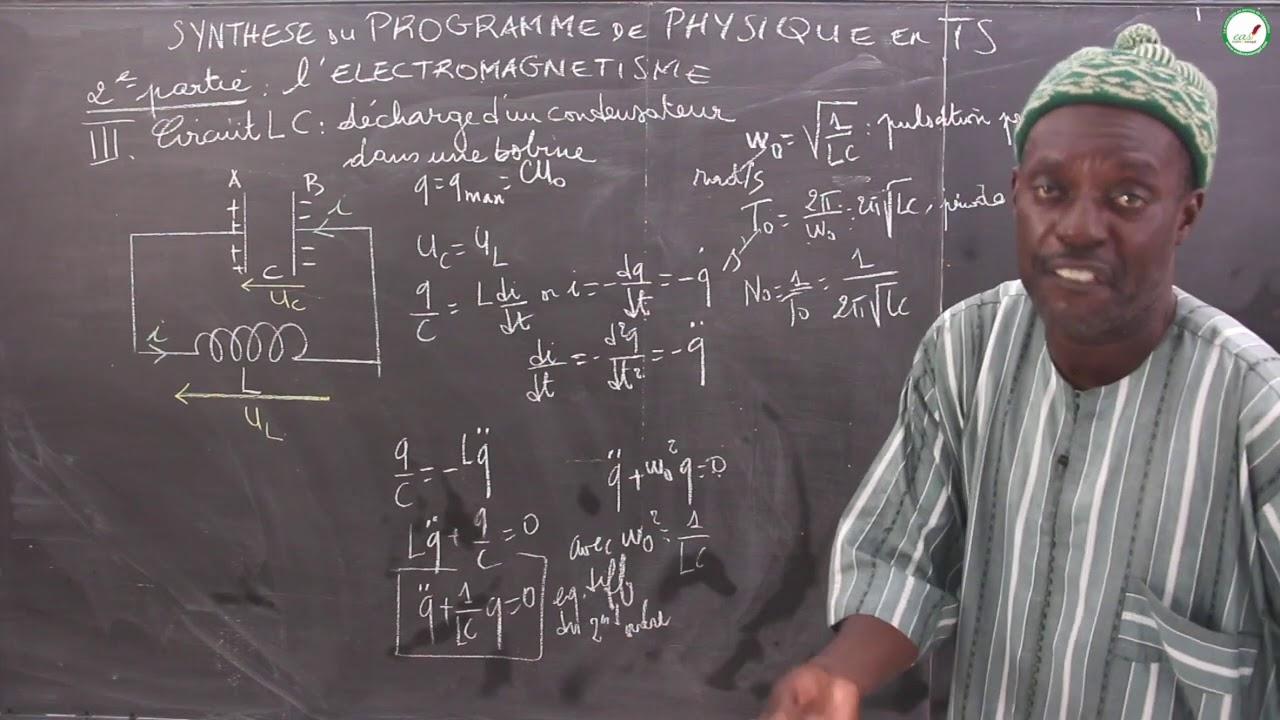 Download Cours - Terminale S - Physique / Chimie : Synthèse cours / Électromagnétisme / Circuit LC