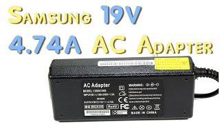 видео Зарядное устройство для ноутбука Samsung 19V 4.7A 90w аналог - Купить блок питания для ноутбука Samsung 19V 4.7A 90W в матрице812