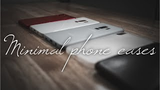 Minimal cases for the iPhone X, Pixel 2, and Galaxy S9. #minimalmonday