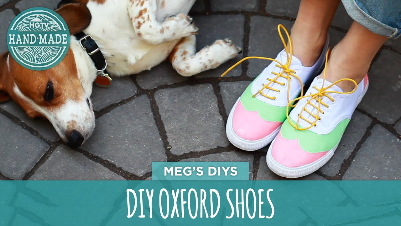 diy oxford shoes white shoes challenge week hgtv