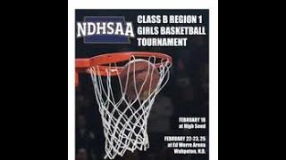 Lisbon vs Wyndmere/Lidgerwood in ND Class B Region 1 Girls Basketball Quarterfinals