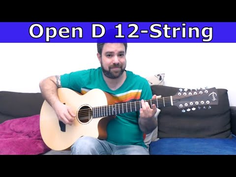 Open D Tips and Ideas For 12 -String Fingerstyle Noodling - Guitar Lesson Tutorial