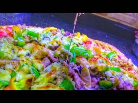 صورة  طريقة عمل البيتزا طريقة عمل البيتزا الإيطالي بأسهل طريقة🤤🤤 طريقة عمل البيتزا من يوتيوب