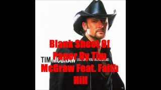 Blank Sheet Of Paper By Tim McGraw Feat. Faith Hill *Lyrics in description*