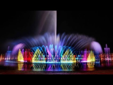 Dubai _ Sharjah Dancing color Fountain My shooting