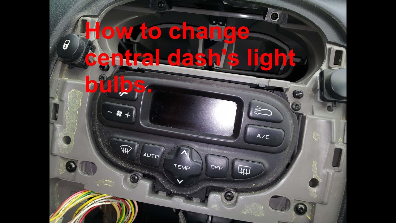 How to change the central dashs light bulbs on a Citron Xsara