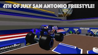 Roblox Monster Jam San Antonio 4th of july Freestyle Competition! (3 Trucks)