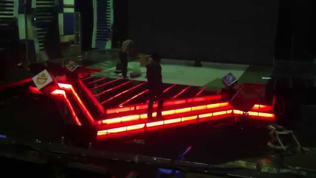Install Led Strip Light Under The Floor Of MYTV With DMX 512 USB By Using Control Computer