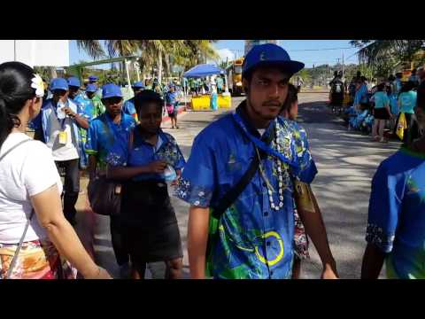 Pacific Island Nations Delegates Enter Paseo De Susana